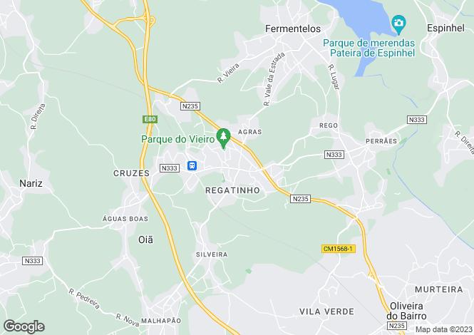 Map for Oiã, Oliveira do Bairro, Aveiro