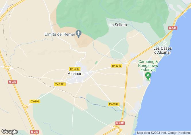 Map for Alcanar, Tarragona, Catalonia