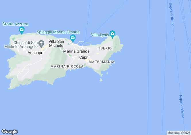 Map for Campania, Naples, Capri