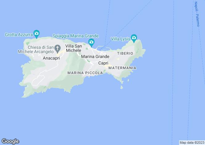 Map for Capri, Napoli, Italy