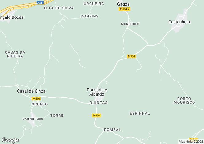 Map for Pousada, Beira Alta