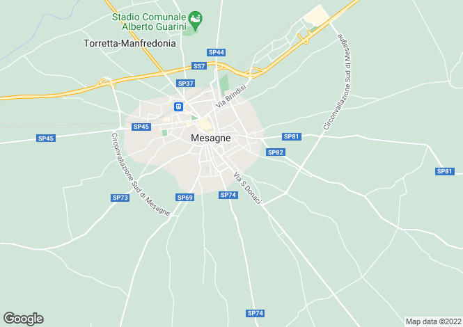 Map for Mesagne, 72023, Italy