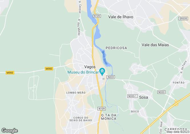 Map for Vagos e Santo António, Vagos, Aveiro