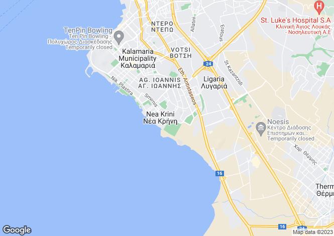Map for Central Macedonia, Thessaloniki, Kalamaria