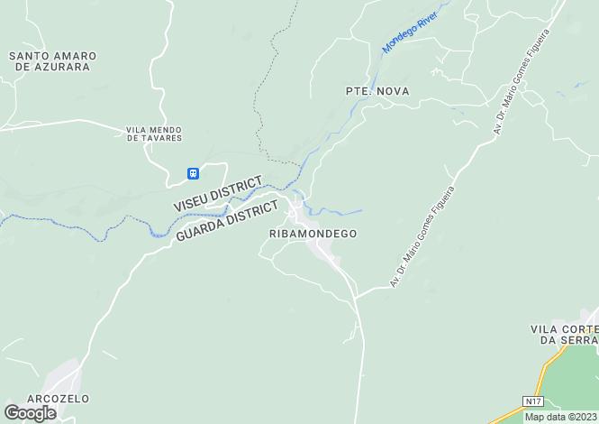 Map for Beira Alta, Gouveia