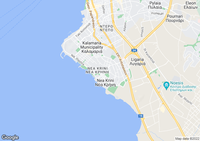 Map for Central Macedonia, Thessaloniki, Kalamaria