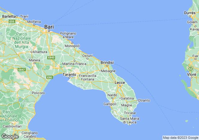 Map for Apulia, Brindisi, San Vito dei Normanni