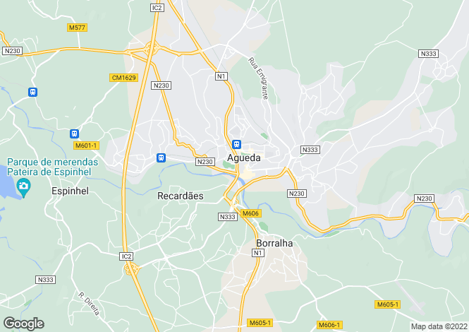 Map for Águeda e Borralha, Águeda, Aveiro