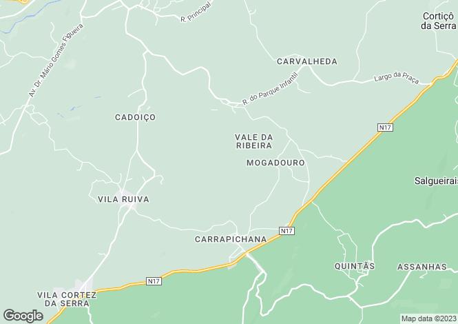 Map for Celorico da Beira, Beira Alta