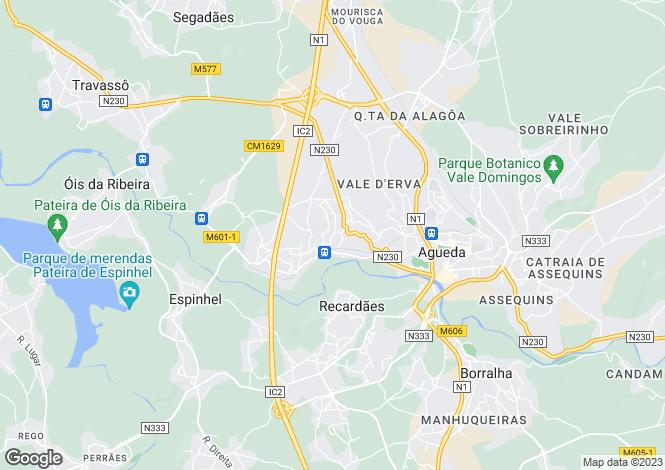 Map for Aveiro, Águeda