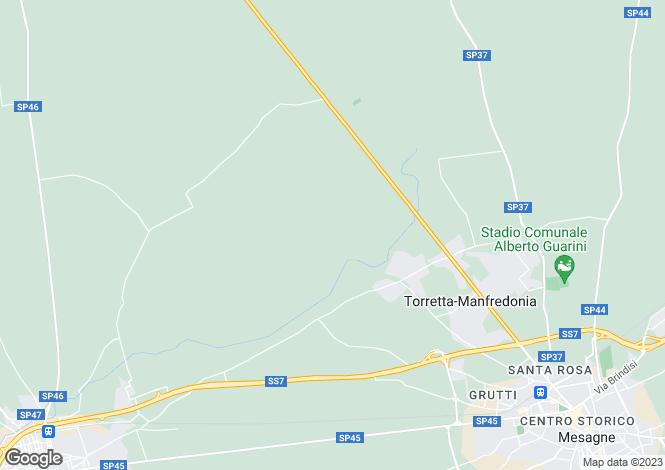 Map for Mesagne, Brindisi, Apulia