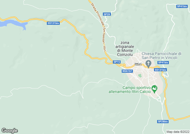 Map for Sardinia, Costa Paradiso