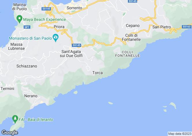 Map for Massa Lubrense, Naples, Campania