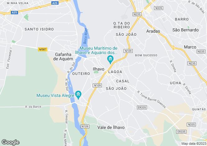 Map for Ílhavo (São Salvador), Ílhavo, Aveiro