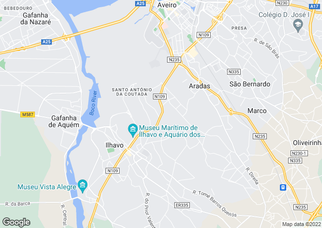 Map for Portugal,Aveiro,Ílhavo