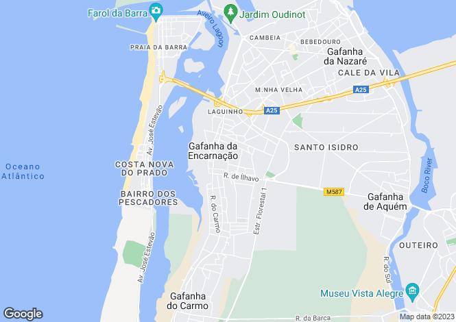 Map for Costa Nova, Gafanha da Encarnação, Ílhavo