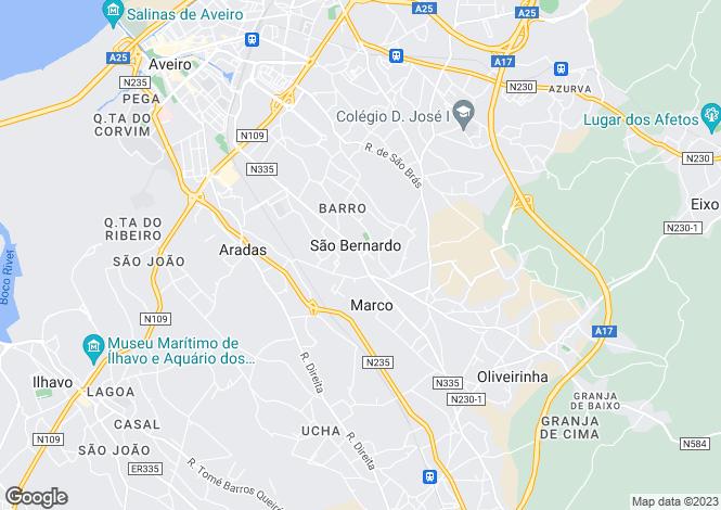 Map for São Bernardo, Aveiro, Aveiro