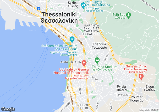 Map for Central Macedonia, Thessaloniki, Thessaloniki