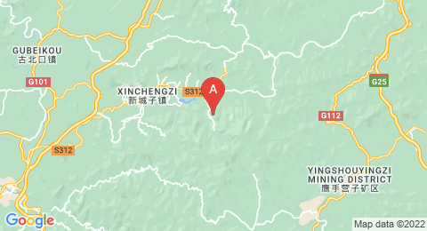 map of Mount Wuling (China)