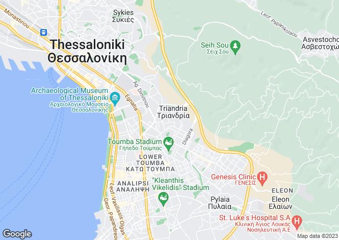 Map for Central Macedonia, Thessaloniki, Thessaloniki