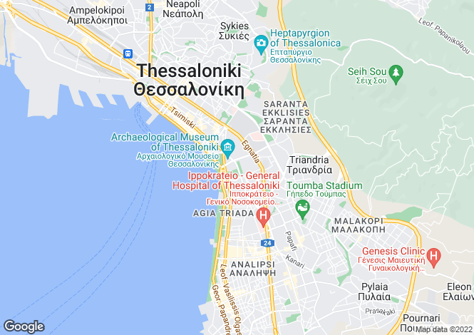 Map for Thessaloniki, Thessaloniki, Central Macedonia