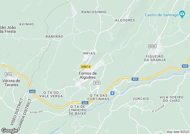 Map for Fornos de Algodres, Beira Alta