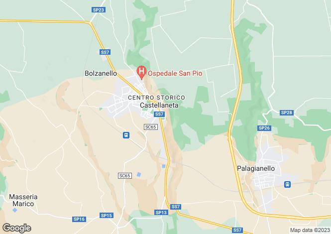Map for Castellaneta, 74011, Italy