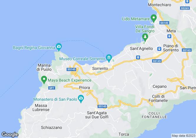 Map for Sorrento, Napoli, Italy