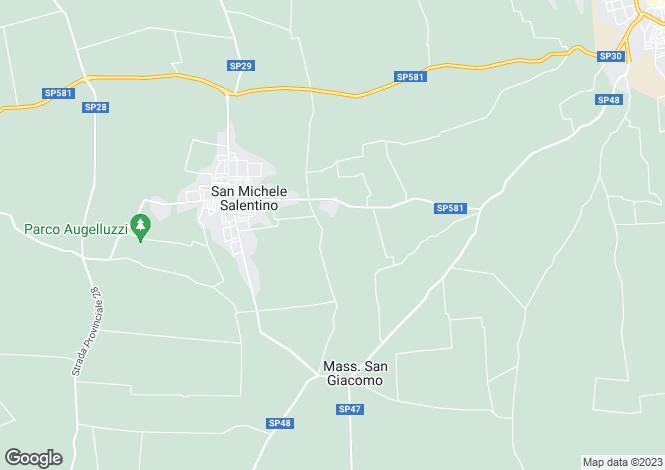 Map for San Michele Salentino, Brindisi, Apulia