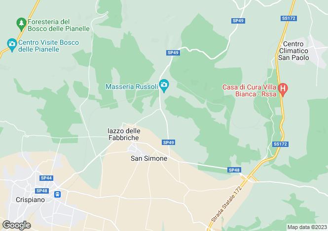 Map for Italy - Apulia, Taranto, Crispiano