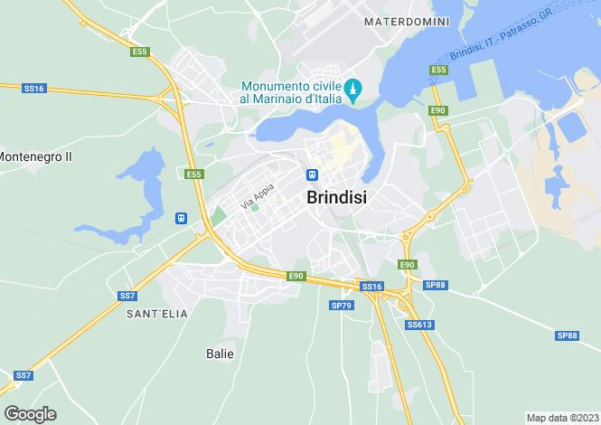 Map for Apulia, Brindisi, Brindisi