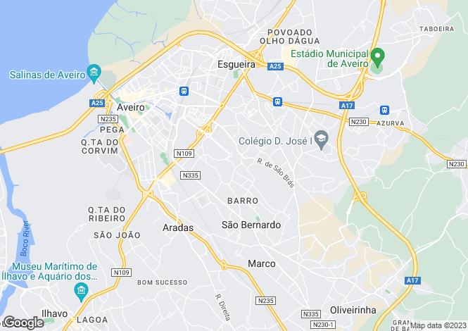 Map for Aveiro, Glória e Vera Cruz, Aveiro