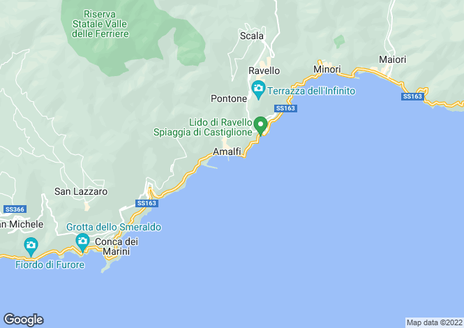 Map for Amalfi, Salerno, Campania