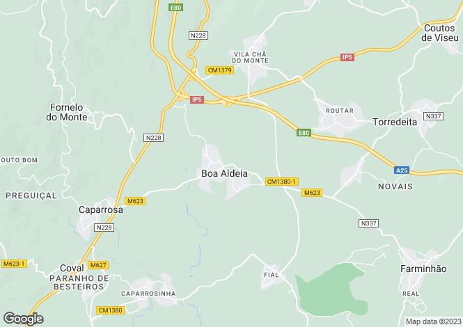 Map for Beira Alta, Viseu