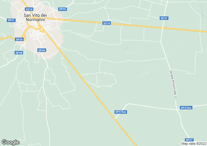 Map for San Vito dei Normanni, Brindisi, Apulia