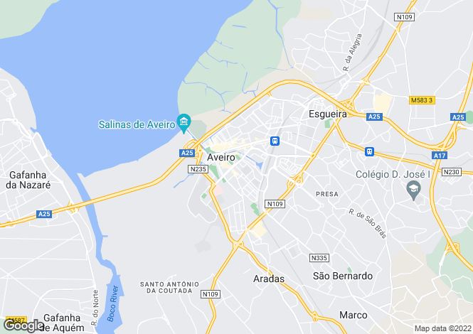 Map for Glória e Vera Cruz, Aveiro, Aveiro