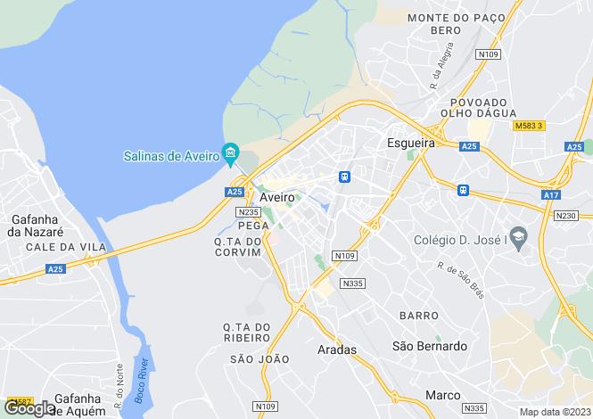 Map for Bairro do Liceu, Glória e Vera Cruz, Aveiro
