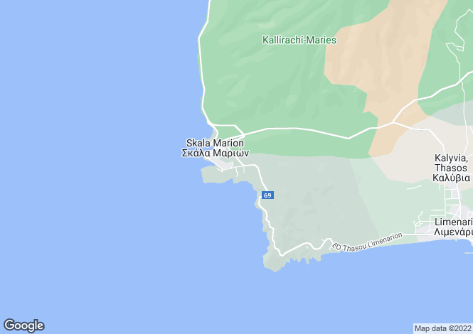 Map for Eastern Macedonia and Thrace, Kavala, Skala Marion