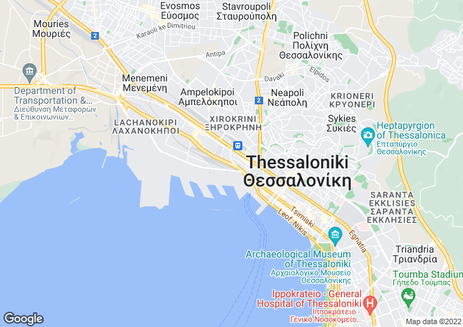 Map for Central Macedonia, Thessaloniki, Ampelokipoi