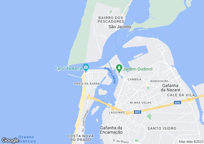 Map for Portugal,Aveiro,Gafanha da Nazaré
