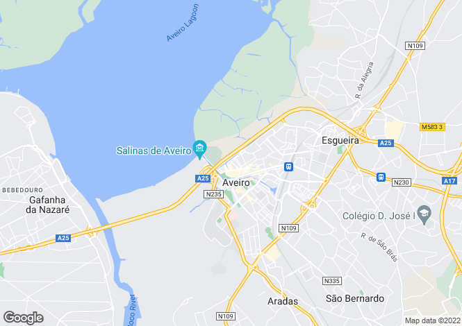 Map for Aveiro, Aveiro