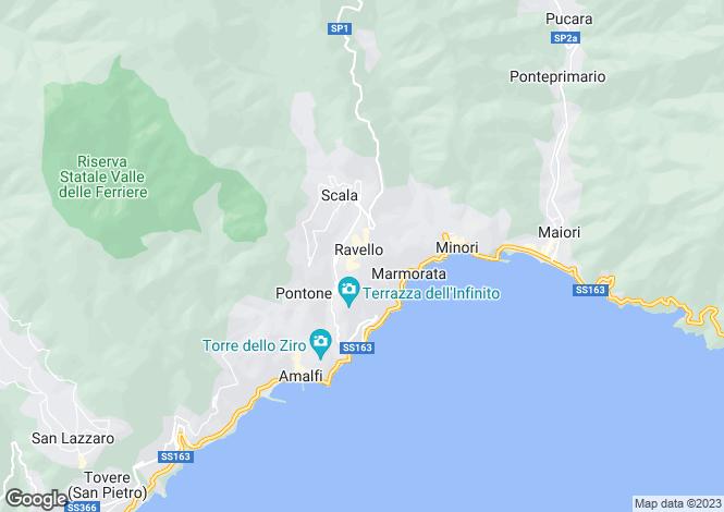 Map for Campania, Salerno, Ravello