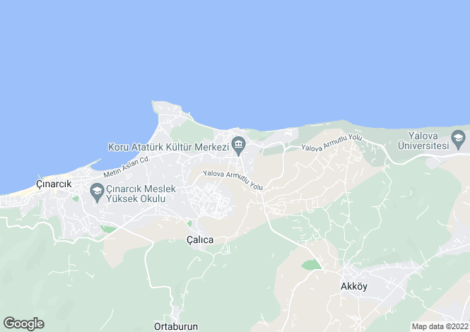 Map for Yalova, Yalova, Yalova