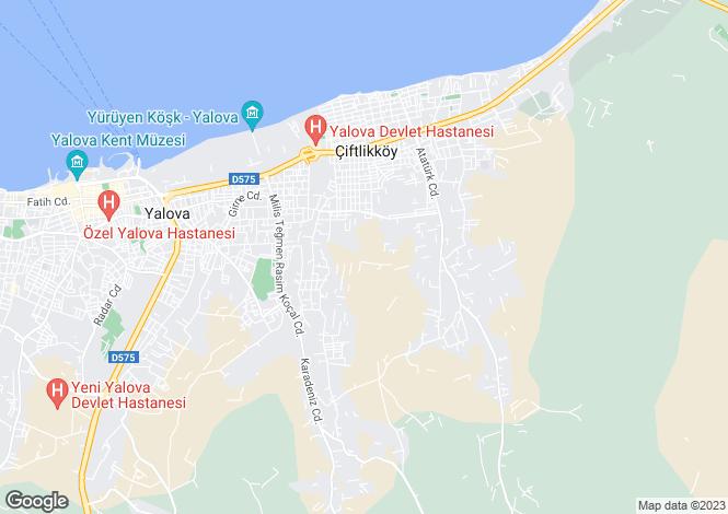 Map for Yalova, Yalova, Çiftlikköy