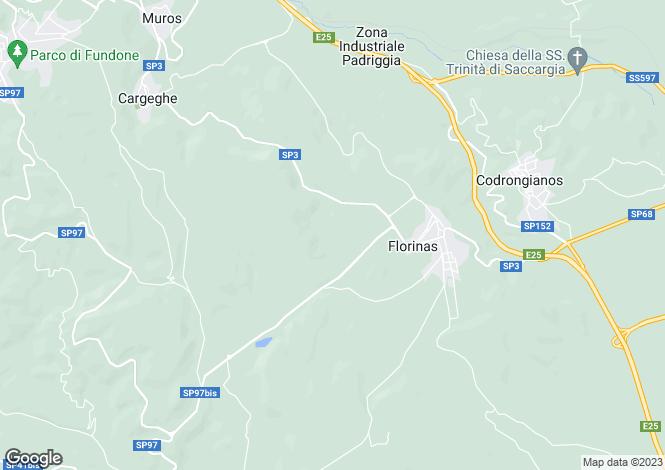 Map for Florinas, Sassari, Italy