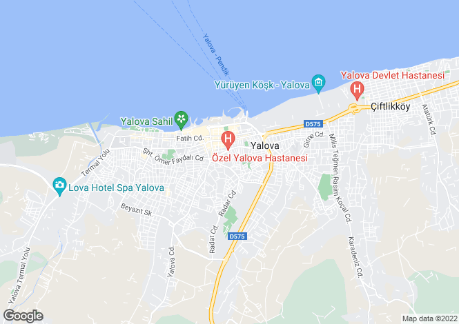 Map for Yalova, Yalova, Yalova