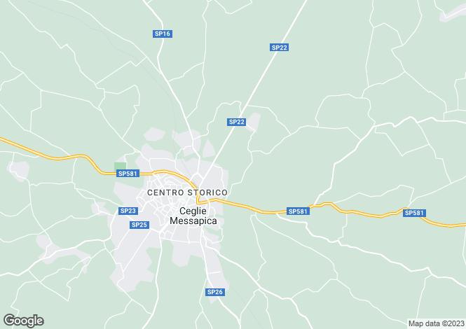 Map for Ceglie Messapica, Ostuni, Brindisi