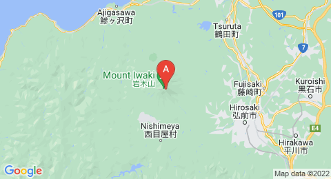 map of Mount Iwaki (Japan)