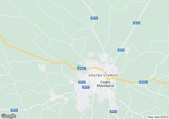 Map for Contrada Galante Palazzo Manzella, Ceglie Messapica, Apulia