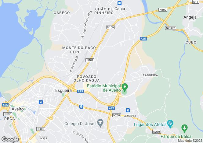 Map for Portugal,Aveiro,Esgueira